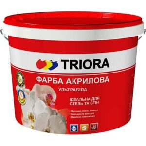 Акриловая краска Triora ультрабелая, 10 л