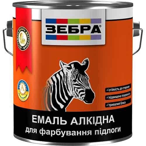 Алкидная эмаль для пола ПФ-266 Зебра, красно-коричневая, 0.9 кг