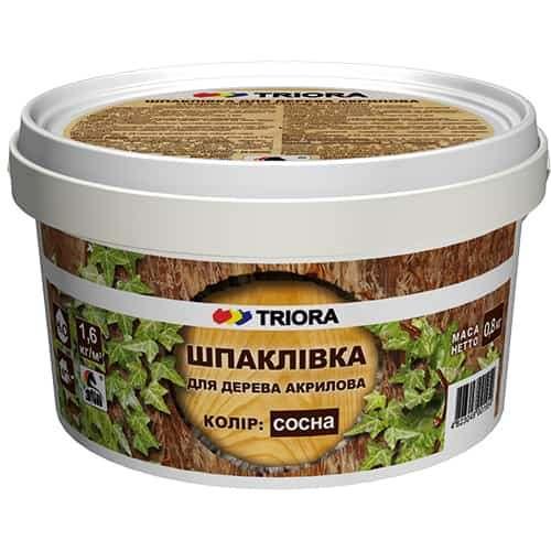 Шпатлевка для дерева Triora, Сосна, 0.8 кг