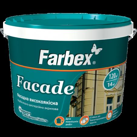 Краска фасадная высококачественная Farbex Facade (база С), 12 кг