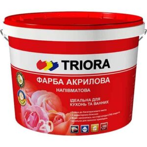 Акриловая краска Triora полуматовая, 10 л