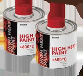 Жаростойкая краска для металла Biodur 200 мл, черная