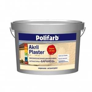 Штукатурка акриловая Akril-Plaster, Короед 2мм. Polifarb, 25,0 кг
