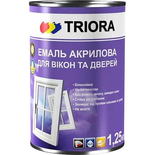 Акриловая эмаль Triora для окон и дверей, 1,25 кг