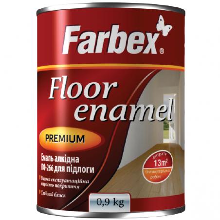 Эмаль ПФ 266 Farbex, красно-коричневая, 0.9 кг