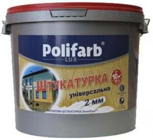Штукатурка акриловая ДекоPlast, Короед 2мм. Polifarb, 25,0 кг (К-2202)