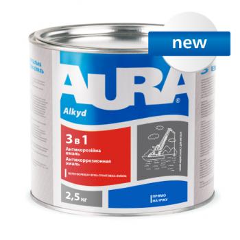 Eskaro Aura Эмаль 3 в 1 серая, 2.5 кг