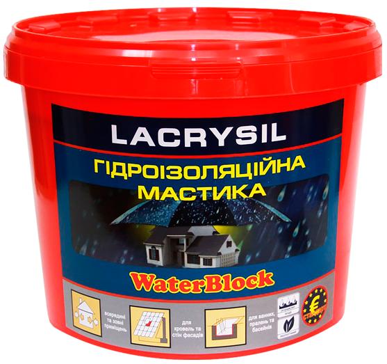Мастика гидроизоляционная акриловая суперэластичная LACRYSIL,  4.5 кг