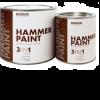Краска для металла с молотковым эффектом Biodur 3 в 1, 2.1 л серая 104