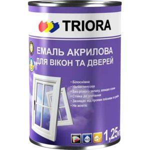 Акриловая эмаль Triora для окон и дверей, 2.5 л