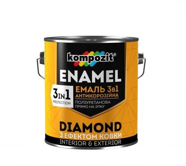 Kompozit Эмаль антикоррозионная 3 в 1 DIAMOND (Черная), 2.5 л