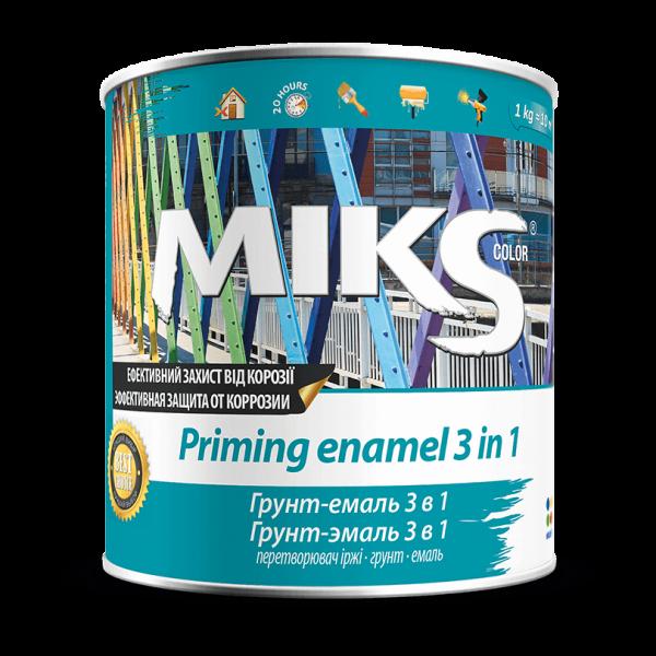 Грунт-эмаль 3 в 1 МИКС серая (RAL 7046), 2.5 кг