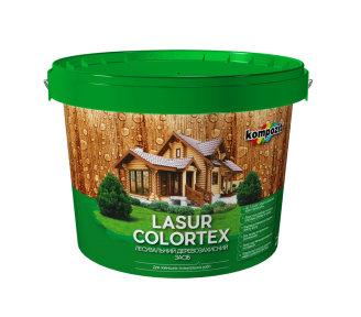Лазурь для древесины Kompozit COLORTEX белый, 0.9 л