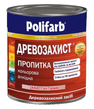 Пропитка деревозащита, тик, Polifarb 0,7 кг
