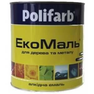 Эмаль Polifarb ЭКО ПФ-115 красно-коричневая, 0,9 кг