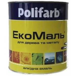 Эмаль Polifarb ЭКО ПФ-115 вишневая, 2,7 кг