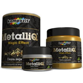 Эмаль акриловая METALLIQ Kompozit черная жемчужина, 0.5 кг
