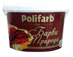 """Краска """"Краски природы"""" Лимонный щербет, Polifarb 4,2 кг"""