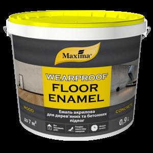 Maxima Эмаль акриловая для деревянных и бетонных полов желто-коричневая, 10 л