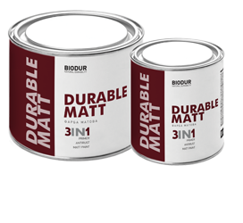 Краска для металла с матовым эффектом Biodur 3 в 1, 2.1 л коричневая 217