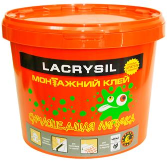 Клей монтажный универсальный акриловый 'Сумасшедшая липучка' LACRYSIL,  3 кг