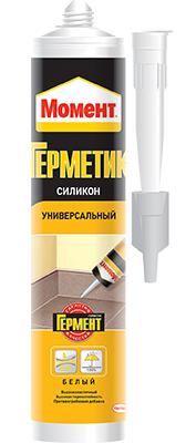 Герметик силиконовый Момент универсальный, 280 мл, белый