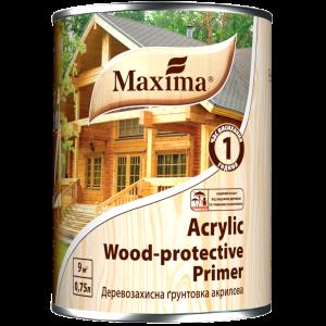 Maxima Деревозащитная акриловая грунтовка бесцветная , 20 л