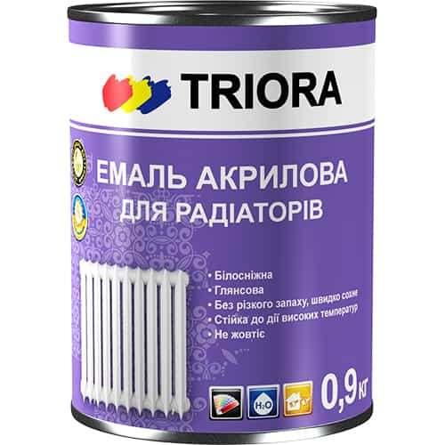 Акриловая эмаль Triora для радиаторов, 0.9 кг