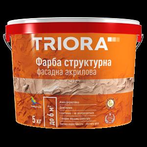 Краска структурная фасадная акриловая Triora, 5 кг