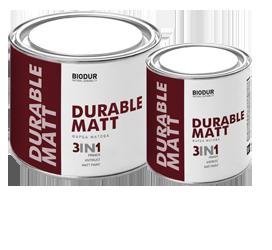 Краска для металла с матовым эффектом Biodur 3 в 1, 0.7 л черная 205