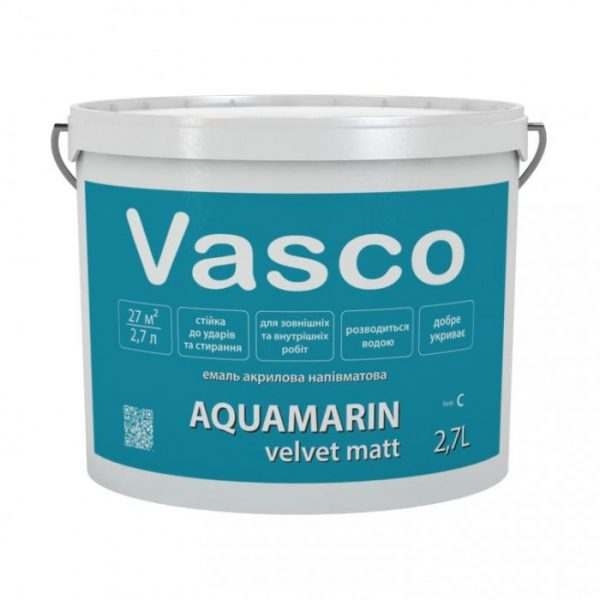 VASCO AQUAMARIN Глянцевая белая, 2.7 л