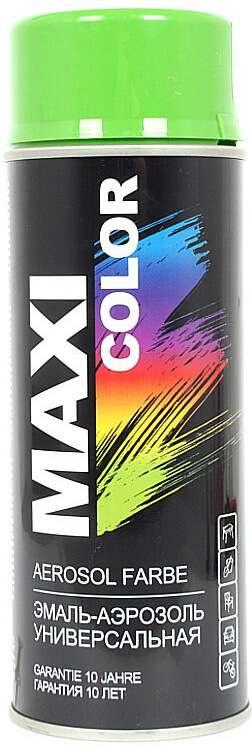 Универсальная аэрозольная эмаль Maxi Color 400 мл, Желто-зеленая RAL 6018