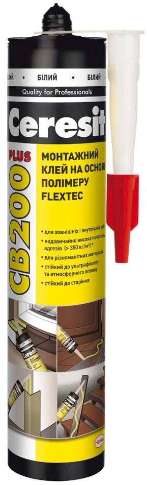 Монтажный клей на основе полимера Ceresit Flextec CB 200 Plus, 440 мл