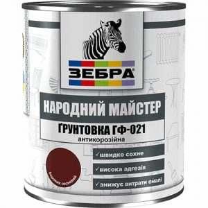 """Грунт ГФ-021 Зебра """"Народный мастер"""", Серое железо, 0.9 кг"""