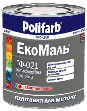 Грунт Polifarb ГФ-021 ЭКО красно-коричневый,  0,9 кг