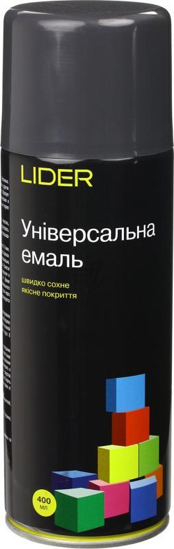 Универсальная эмаль Lider 400 мл, темно-серая №7024