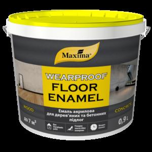 Maxima Эмаль акриловая для деревянных и бетонных полов желто-коричневая RAL 8003, 0.9 л