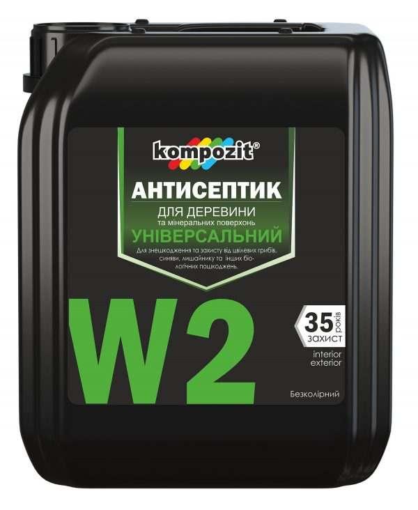 Антисептик универсальный W2 Kompozit, 10 л