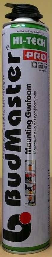 Профессиональная монтажная пена BudMaster PRO (GUN), 750 мл