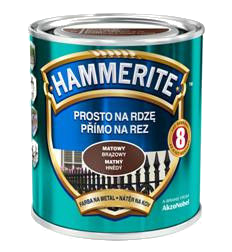 Hammerite матовая  коричневая, 0.75 л