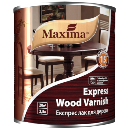 Экспресс лак для дерева Maxima глянцевый, 2.5 л