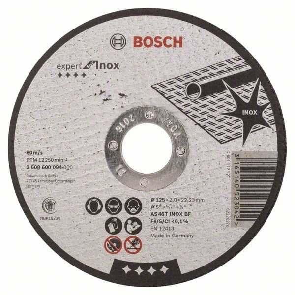 Отрезной круг Bosch Best по нержавейке 125×2,5, вогнутый, 2608603505