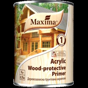 Maxima Деревозащитная акриловая грунтовка бесцветная , 0.75 л