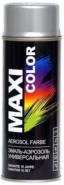 Декоративная аэрозольная эмаль Maxi Color 400 мл, Хром аллюминий RAL 9006