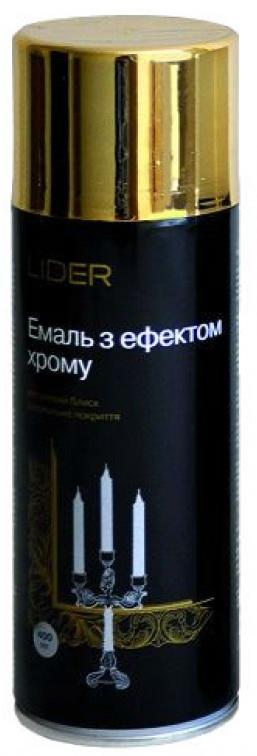 Эмаль с эффектом хрома Lider 400 мл, золото