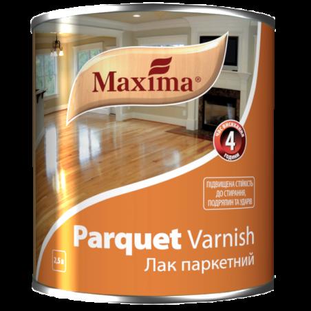 Алкидно-уретановый паркетный лак Maxima полуматовый, 2.5 л
