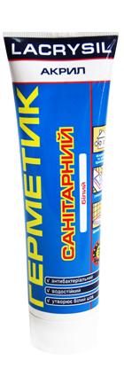 Герметик акриловый санитарный белый LACRYSIL, 150 гр