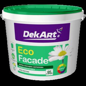 Краска фасадная Eco Facade DekArt матовая, 10 л