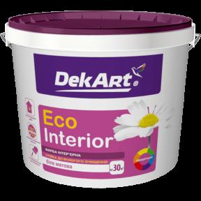 Краска для стен и потолков Eco Interior DekArt матовая, 3 л