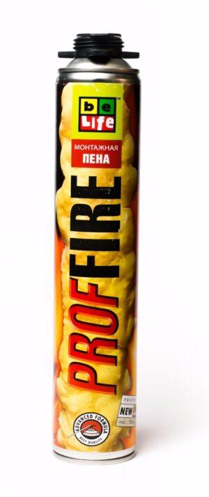 Профессиональная огнестойкая монтажная пена BeLife Pro-FR50 (PROFIRE)